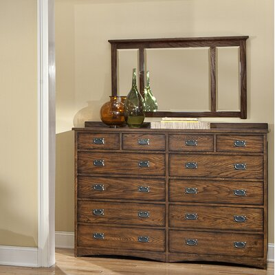 Imagio Home by Intercon Oakhurst 12 Drawer Dresser with Mirror