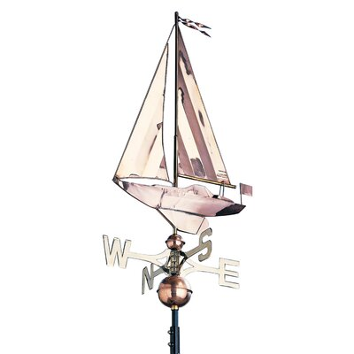 Whitehall products copper sailboat weathervane wayfair for Cupolas for sale lowes