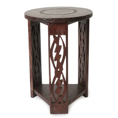 Novica I Fear Only God Wood End Table