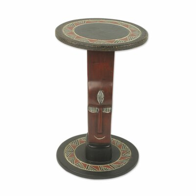 Novica African Prince Wood End Table