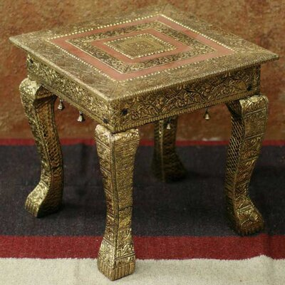 Novica Golden Garland End Table