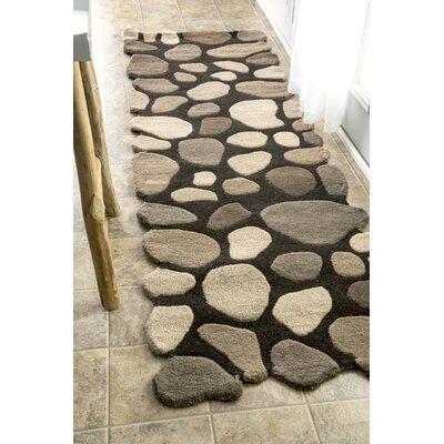 nuloom pebbles pebbles handtufted dark brown area rug u0026 reviews wayfair - Nuloom Rugs