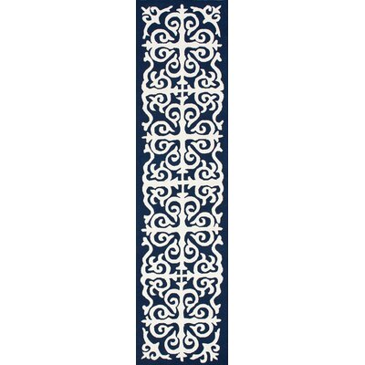 chelsea damask moroccan trellis navy blue area rug by nuloom - Nuloom