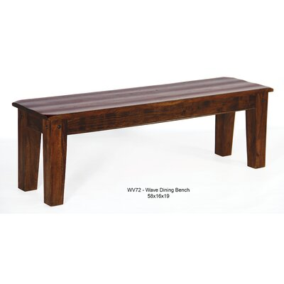 Aishni Home Furnishings Wave Wood Kitchen Bench