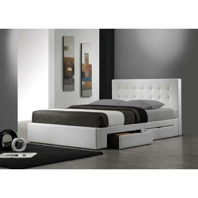 DG Casa Upholstered Storage Platform Bed