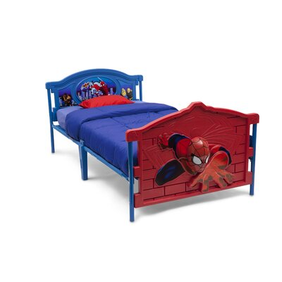 Delta Children Marvel Spider-Man 3-D Twin Convertible Toddler Bed
