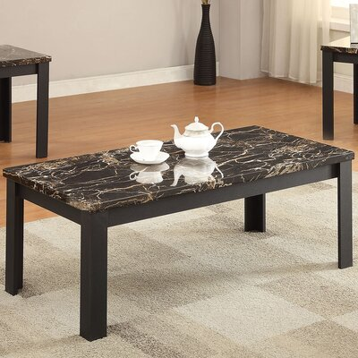 acme furniture carly faux marble 3 piece coffee table set