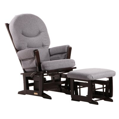Dutailier Ultramotion Multi-Position Reclining Modern Rounded Cushion Glider and Ottoman