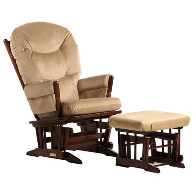 Dutailier Ultramotion Two Post with Plush Cushion Glider and Ottoman