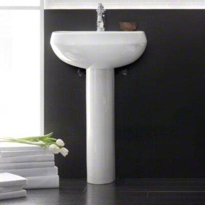 "Bathroom Sinks Pedestal kohler wellworth 22"" pedestal bathroom sink with overflow"