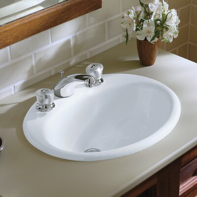 kohler farmington drop in bathroom sink with 8 widespread faucet holes reviews wayfair