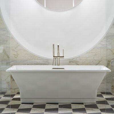 Kohler Reve  X  Freestanding Soaking  Reviews Wayfair - Kohler cast iron freestanding tub