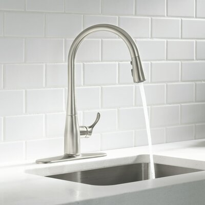 Kohler Kitchen Faucets Pull Out Spray kohler simplice pull down kitchen faucet & reviews | wayfair