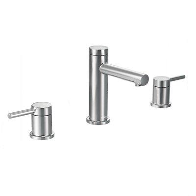 Bathroom Sinks Moen moen align double handle widespread bathroom faucet with drain