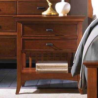 Darby Home Co Dix 2 Drawer Nightstand