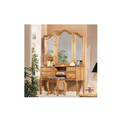 Bebe Furniture Country Heirloom Vanity with Mirror