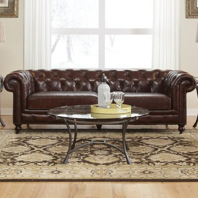 Astoria Grand Sebergham Leather Sofa