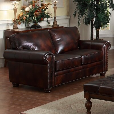 Lazzaro Leather Leather Loveseat