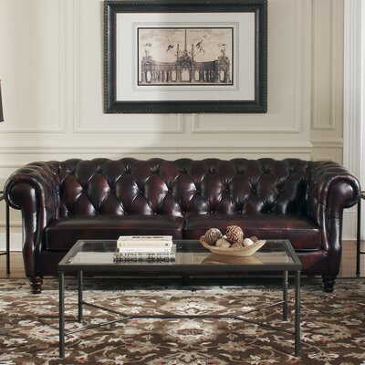 Astoria Grand Tilsworth Leather Sofa