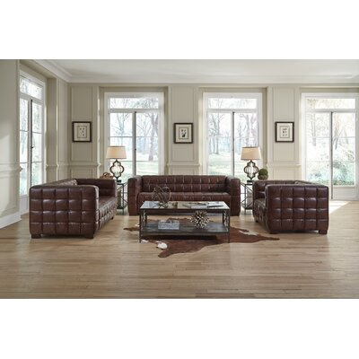 Lazzaro Leather Nautical Living Room Collection