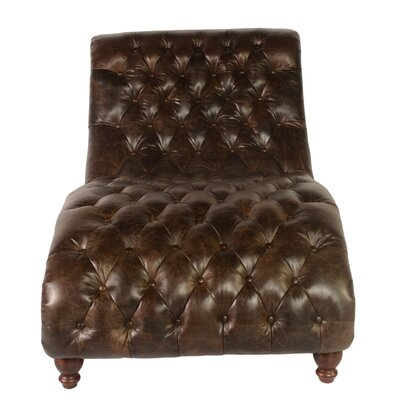 Lazzaro Leather Cathay Leather Chaise Lounge