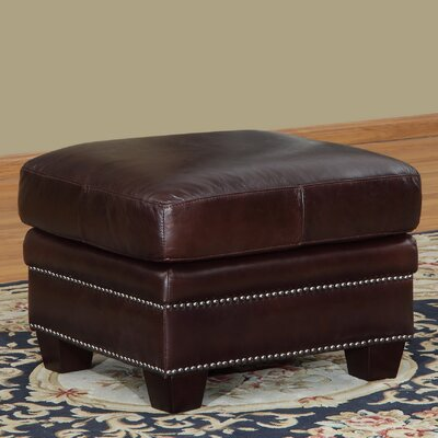 Simplicity Leather Ottoman