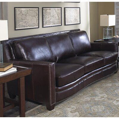 Lazzaro Leather Simplicity Leather Sofa