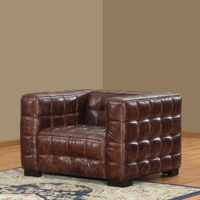 Lazzaro Leather Nautical Arm Chair