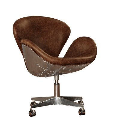 Lazzaro Leather Timeless Bomber Office Chair