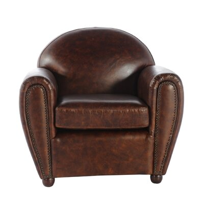 Lazzaro Leather Lincoln Ciga Leather Armchair