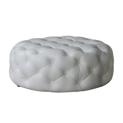 Lazzaro Leather Mondavi Leather Tufted Ottoman