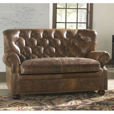 Lazzaro Leather Louis Leather Loveseat