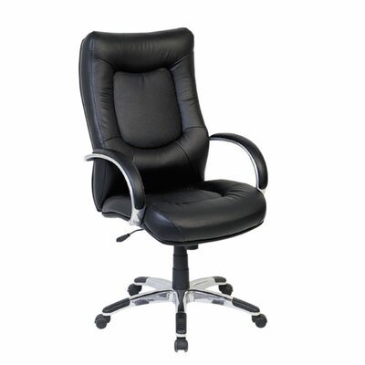 Lorell Stonebridge High-Back Leather Executive Chair with Arms