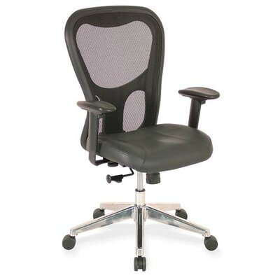 Lorell High-Back Executive Leather Office Chair with Arms