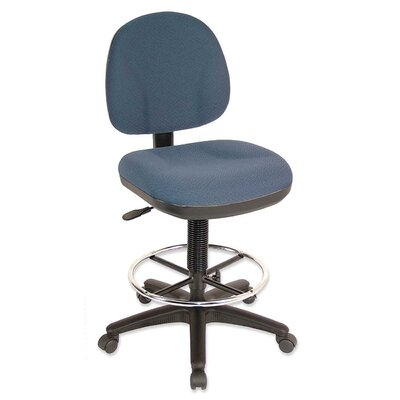 Lorell Pneumatic Adjustable Multi-Task Drafting Stool with Footring
