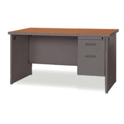Lorell Durable Desk Ensembles Computer Desk with Single Pedestal