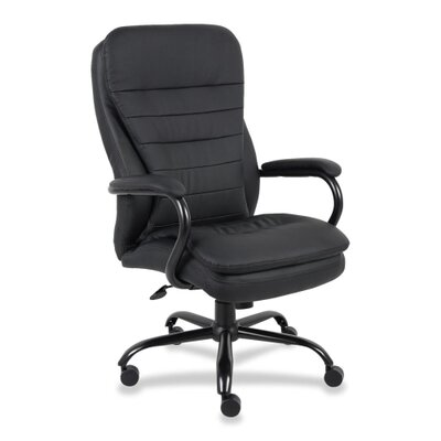 Lorell Leather Executive Chair with Cushion