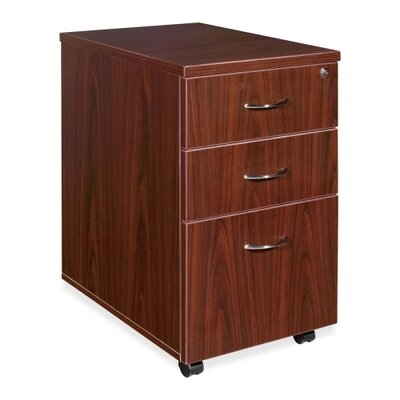 Lorell 3-Drawer Box/Box/File Mobile Pedestal