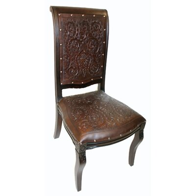 New World Trading Colonial Imperial Leather Side Chair (Set of 4)