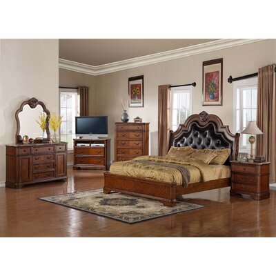 InRoom Designs Panel Customizable Bedroom Set