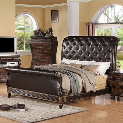 InRoom Designs Upholstered Sleigh Bed
