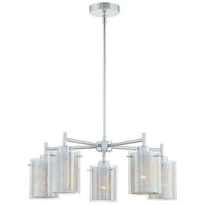 George Kovacs Grid II 5 Light Shaded Chandelier Reviews Wayfair