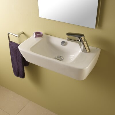 Bissonnet emma ceramic bathroom sink reviews wayfair for White ceramic bathroom bin