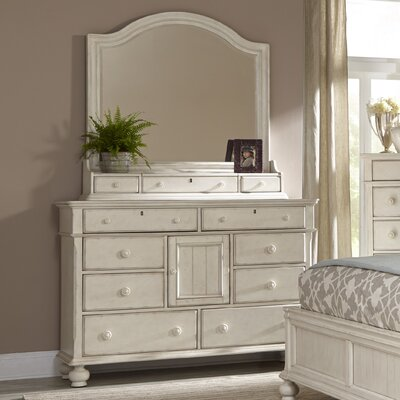 American Woodcrafters Newport 11 Drawer Dresser with Mirror
