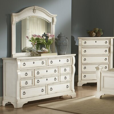 One Allium Way Edinburg 10 Drawer Dresser with M..