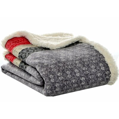 Eddie Bauer Fairisle Sherpa Throw & Reviews | Wayfair