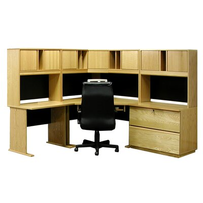 Rush Furniture Office Modulars Executive Desk with Lateral File