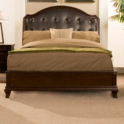 Alpine Furniture Beaumont Upholstered Panel Bed Image