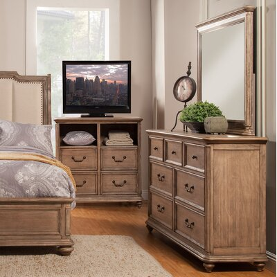 Alpine Furniture Melbourne 7 Drawer Dresser with Mirror