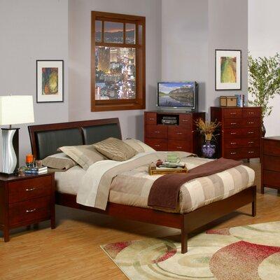 Alpine Furniture Newport Upholstered Platform Bed